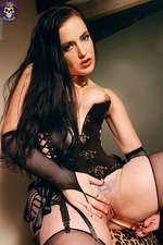 Gorgeous Goth In Corset 12