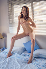 Skinny Teen Babe Adel Morel Touches Herself In Bed 12