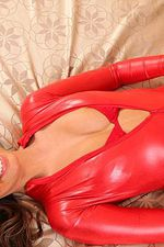 Babe In Her Latex Outfit 06