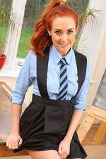 Busty Redhead Schoolgirl 00