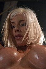 Busty blonde babe gets some insertion 00