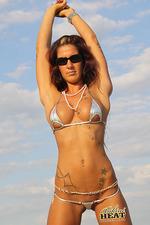 Tattooed bikini wild babe