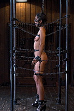 Sexy slut is immobilized by hard steel  04