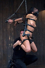 Sexy slut is immobilized by hard steel  12