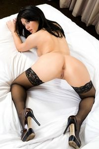Akira Jade in black stockings