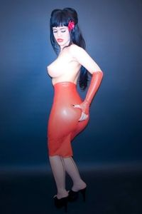 Ruby red latex