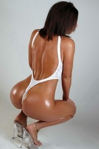 Rachael In White Thong