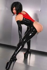 Bare bottom latex perversion