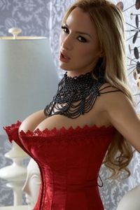 Red corset epic boobs