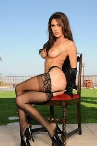 Jessica Jaymes on the Lawn