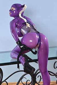 Latex Lucy Fucks Herself