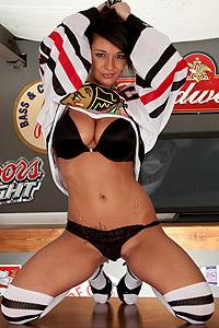 Nikki Sims With Cheerleader