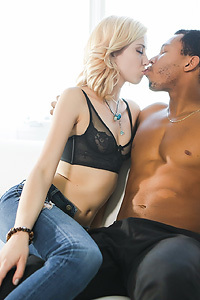 Small Titted Blonde Chick In Interracial Hardcore Porn Pictures