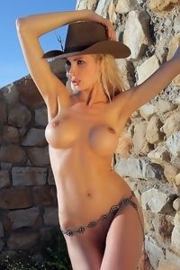 Sexy Alisa In Rodeo Cap