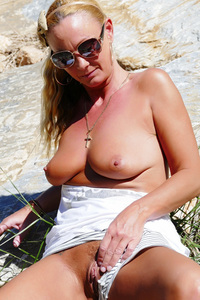 Outdoor Masturbation In Shorts And Tits Out